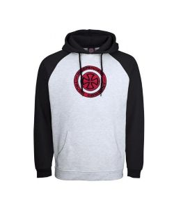Independent Target Raglan Black Athletic Heather Αντρικό Φούτερ Κουκούλα