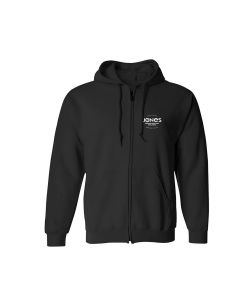 Jones Riding Free Black Men's Zip Hoodie