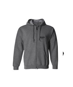 Jones Riding Free Grey Men's Zip Hoodie