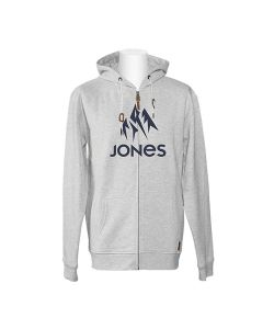 Jones Truckee Grey Heather Men's Zip Hoodie