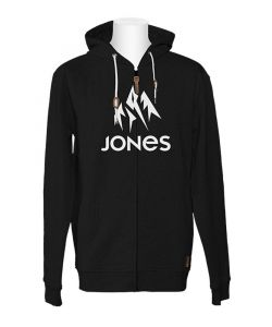 Jones Truckee Plain Black Men's Zip Hoodie