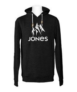 Jones Truckee Plain Black Ανδρικό Φούτερ Κουκούλα