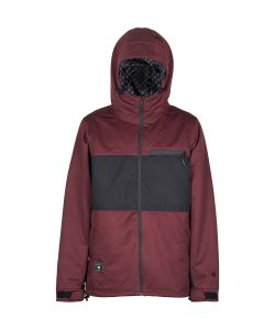 L1 Hasting Wine Black Men's Snow Jacket