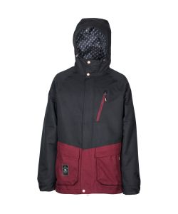 L1 Legacy Black Wine Men's Snow Jacket