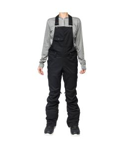 L1 LORETTA TWILL BLACK WOMENS BIB PANTS