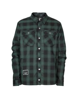 L1 Westmont Emerald Flannel Midlayer