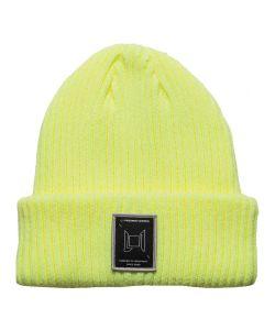 L1 Wordmark Soft Lime Beanie