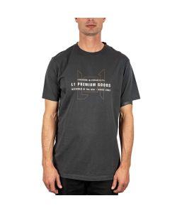 L1 WORDMARK TEE  VINTAGE BLACK T-SHIRT