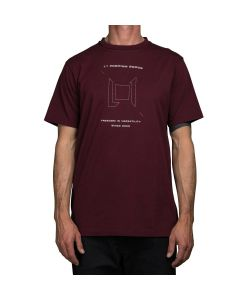 L1 Wordmark Wine Mens's T-Shirt