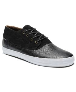 Lakai Camby Mid Black Leather Men's Shoes