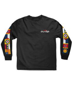 Lakai Chololate Flags Black Men's Long Sleeve T-Shirt