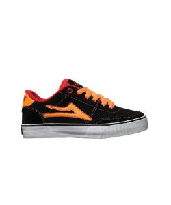 LAKAI ENCINO BLACK ORANGE SHOES