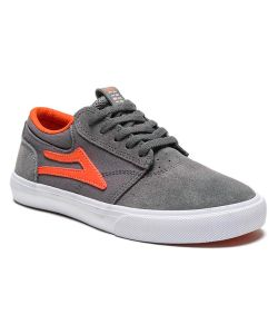 LAKAI GRIFFIN GREY RUST SUEDE KIDS SHOES