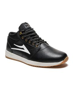 Lakai Griffin Mid Black Leather Men's Shoes