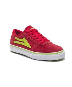 LAKAI MANCHESTER RED/LIME SHOES