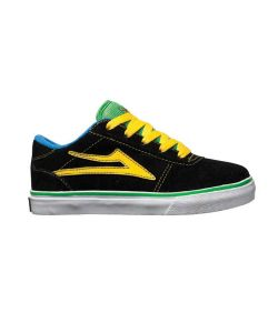 LAKAI MANCHESTER SELECT BLACK/GREEN KIDS SHOES