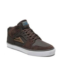 Lakai Telford Mid All Weather Coffee Suede Men's Shoes