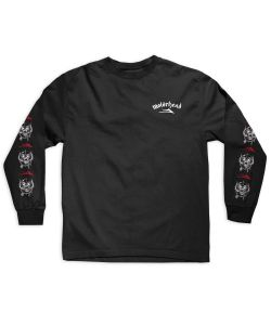 Lakai X Motorhead War Pig Black Men's Long Sleeve T-Shirt