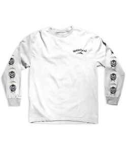 Lakai X Motorhead War Pig White Men's Long Sleeve T-Shirt
