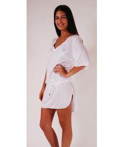 Lightning Bolt Blue Ocean Plain Tunic White Φόρεμα