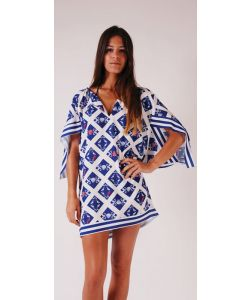 LIGHTNING BOLT BLUE OCEAN TUNIC SURF THE WEB ΦΟΡΕΜΑ