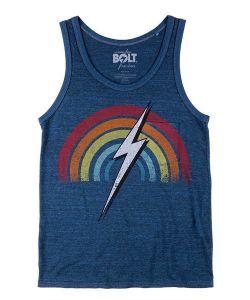 Lightning Bolt Rainbow Triblend Overdyed Pocket Directoire Blue Ανδρικό Αμάνικο