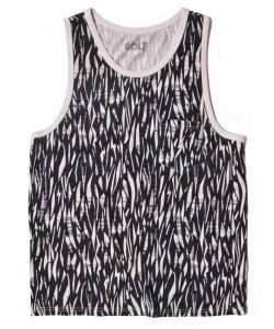 LIGHTNING BOLT WATER TOP ALL OVER PRINTED MOONLESS NIGHT TANK