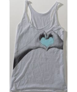 Matix Heart Hands Slouch Heather Grey Women's Tank