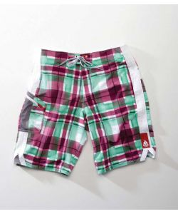 Matix Water Plaid White Men's Boardshort