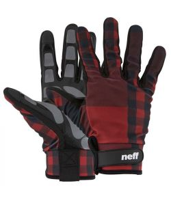 NEFF CHAMELEON PIPE GLOVE RED PLAID