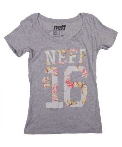 Neff Devin Scoop Neck Athletic Heather Γυναικείο T-Shirt