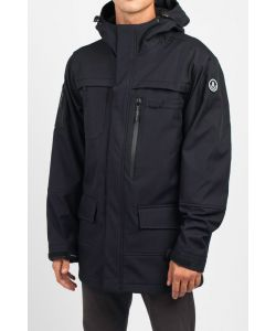 NEFF MILITARY SOFTSHELL (DWR) BLACK SNOW JACKET