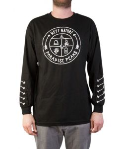 Neff Paradise Peaks Black Men's Long Sleeve T-Shirt