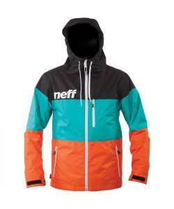 NEFF TRIFECTA BLK/TEAL/ORNG YOUTH SNOW JACKET