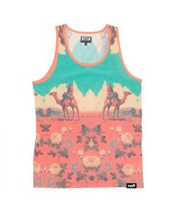 Neff World Travelers Teal Orange Men's Tank