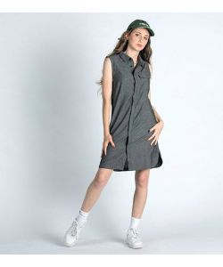 Nikita Cats Eye Dress Black Φόρεμα