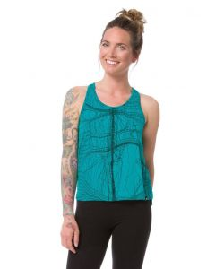 Nikita Land String Print Tropical Green Women's Tank