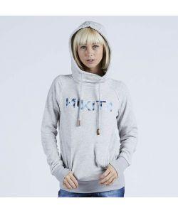 Nikita Reykjavik Solid Po Ghost Grey Γυναικείο Φούτερ Κουκούλα