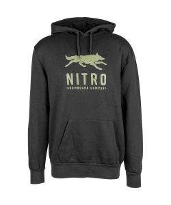 Nitro Lobos Black Ανδρικό Φούτερ Κουκούλα