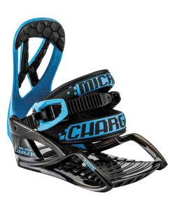 Nitro Micro Charger Blue Youth Snowboard Bindings