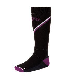 Nitro Monarch Black Grey Purple White Γυναικείες Snow Socks