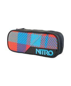 Nitro Pencil Case Plaid Red-Blue Θήκη
