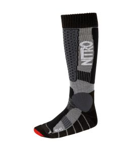 Nitro Team Black Grey Red Snow Socks