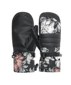 Picture Anna Peonies Black Mitts