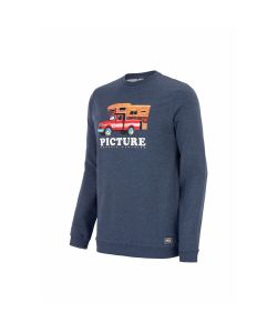Picture Chuck Crew Dark Blue Melange Men's Crewneck