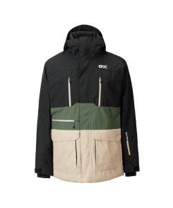 Picture Pure Black Lychen Green Men's Snow Jacket