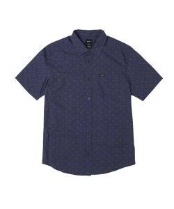 Rvca Carlo Dot Moody Blue Men's Shirt