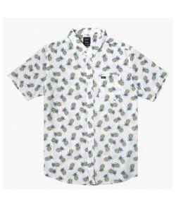 Rvca Dmote Refflections Antique White Men's Shirt