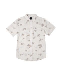 Rvca Endless Seersucker Antique White Men's Shirt