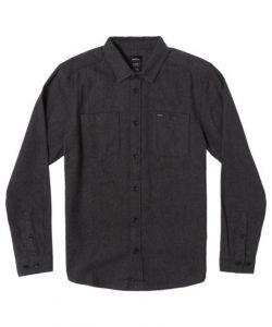 Rvca Harvest Flannel LS Dark Grey Ανδρικό Πουκάμισο
